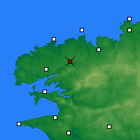 Nearby Forecast Locations - Landivisiau - Χάρτης