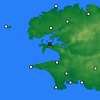 Nearby Forecast Locations - Lanvéoc - Χάρτης