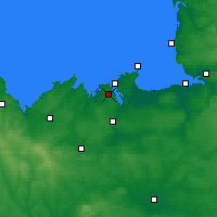 Nearby Forecast Locations - Dinard - Χάρτης