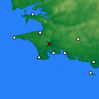 Nearby Forecast Locations - Quimper - Χάρτης