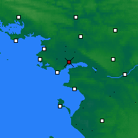 Nearby Forecast Locations - Σαιν-Ναζαίρ - Χάρτης