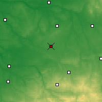 Nearby Forecast Locations - Châteauroux - Χάρτης