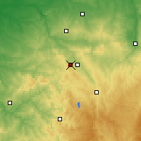 Nearby Forecast Locations - Guéret - Χάρτης