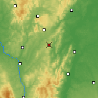 Nearby Forecast Locations - Mont-Saint-Vincent - Χάρτης