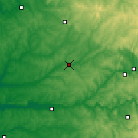 Nearby Forecast Locations - Périgueux - Χάρτης