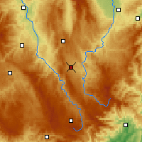 Nearby Forecast Locations - Le Puy-en-Velay - Χάρτης