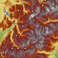 Nearby Forecast Locations - Bourg-Saint-Maurice - Χάρτης