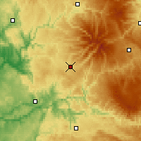 Nearby Forecast Locations - Aurillac - Χάρτης