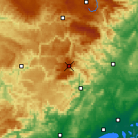 Nearby Forecast Locations - Mont Aigoual - Χάρτης
