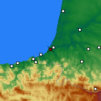 Nearby Forecast Locations - Biarritz - Χάρτης