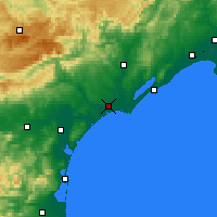 Nearby Forecast Locations - Μπεζιέ - Χάρτης