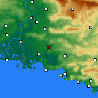 Nearby Forecast Locations - Salon-de-Provence - Χάρτης