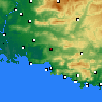 Nearby Forecast Locations - Les Milles - Χάρτης