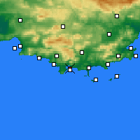 Nearby Forecast Locations - Τουλόν - Χάρτης