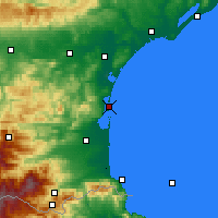 Nearby Forecast Locations - Leucate - Χάρτης