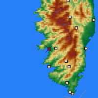 Nearby Forecast Locations - Αζαξιό - Χάρτης