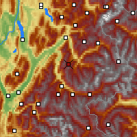 Nearby Forecast Locations - Valmorel - Χάρτης