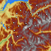Nearby Forecast Locations - Tal Chamonix - Χάρτης