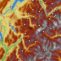 Nearby Forecast Locations - Megève - Χάρτης