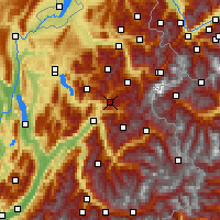 Nearby Forecast Locations - Val d'Arly - Χάρτης