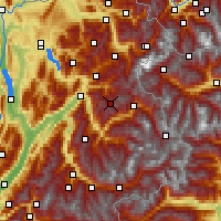 Nearby Forecast Locations - Beaufortain - Χάρτης