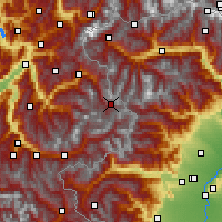 Nearby Forecast Locations - Val-d'Isère - Χάρτης