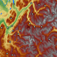 Nearby Forecast Locations - Les Trois Vallées - Χάρτης