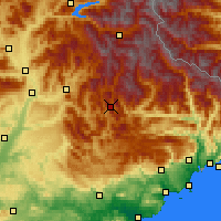 Nearby Forecast Locations - Saint-André-les-Alpes - Χάρτης