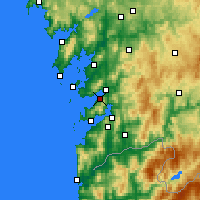 Nearby Forecast Locations - Marín - Χάρτης