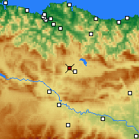 Nearby Forecast Locations - Βιτόρια-Γκαστέις - Χάρτης