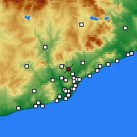 Nearby Forecast Locations - Sabadell - Χάρτης