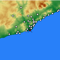 Nearby Forecast Locations - El Prat de Llobregat - Χάρτης