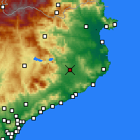 Nearby Forecast Locations - Ζιρόνα - Χάρτης