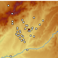 Nearby Forecast Locations - Μαδρίτη - Χάρτης