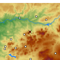 Nearby Forecast Locations - Jaén - Χάρτης