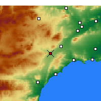 Nearby Forecast Locations - Lorca - Χάρτης