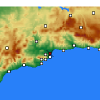 Nearby Forecast Locations - Μάλαγα - Χάρτης