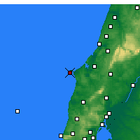 Nearby Forecast Locations - Cabo Carvoeiro - Χάρτης