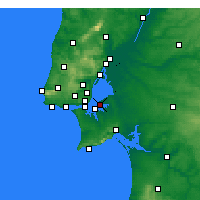 Nearby Forecast Locations - Montijo - Χάρτης