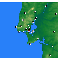 Nearby Forecast Locations - Lisbon/Geof - Χάρτης