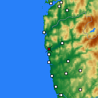 Nearby Forecast Locations - Viana do Castelo - Χάρτης