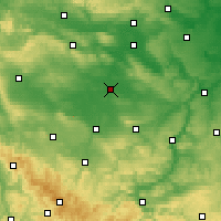 Nearby Forecast Locations - Sömmerda - Χάρτης