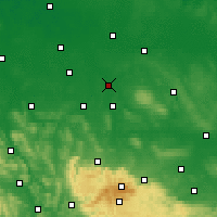 Nearby Forecast Locations - Μπράουνσβαϊγκ - Χάρτης
