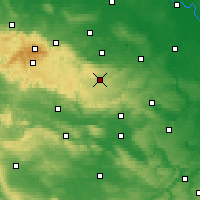 Nearby Forecast Locations - Harzgerode - Χάρτης