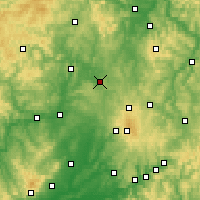 Nearby Forecast Locations - Homberg (Ohm) - Χάρτης