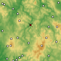 Nearby Forecast Locations - Bad Hersfeld - Χάρτης
