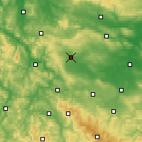 Nearby Forecast Locations - Mühlhausen - Χάρτης
