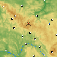 Nearby Forecast Locations - Thuringian Forest - Χάρτης