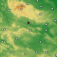 Nearby Forecast Locations - Nordhausen - Χάρτης