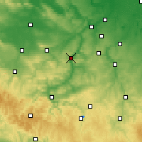 Nearby Forecast Locations - Ιένα - Χάρτης